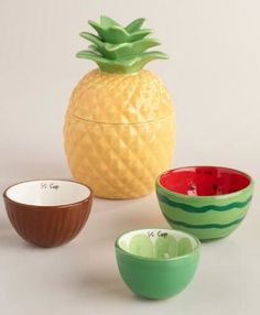 fruit themed ceramic measuring cups