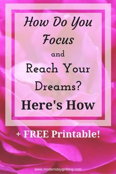Want to know how to focus so you can go get those dreams of yours? Get your FREE printable to go with it! For those with a mental health issue nor not!