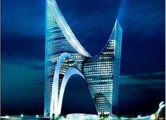 Skyscraper designed by Daniel Libeskind. Gazprom City, St Petersburg