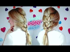 SUPER EASY HAIRSTYLE RELAXED FRENCH PONY BRAID | Awesome Hairstyle
