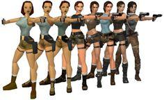 Evolution of Lara Croft #TombRaider via Reddit user MarsssMars
