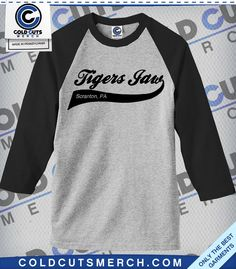"Tigers Jaw ""Script Swish"" Baseball Tee"