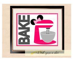 Disney Minnie Mouse Bake  - Printable Art - Mixer cupcake cake on Etsy, $10.00