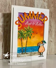 June Stamp It Blog Hop~Theme: Summer/Patriotic ⋆ Tina Wardell Stampin Up! Independent Demonstrator Welcome To Our Team, Prize Giveaway, Hello Dear, Card Making Inspiration, Love You More Than, Color Card, Fun Drinks, Cardmaking, Stampin Up