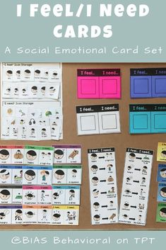 Children who have difficulty with communication often struggle when it comes to emotional expression. When they can't find the words to tell how they are feeling, they may use a physical action to show their feelings instead. When children are taught to understand how they are feeling and express what they need to cope with those feelings, they are less likely to engage in challenging behavior.  These visual supports were designed teach and help with the generalization of emotional expression.