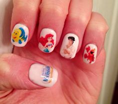 The Little Mermaid Nail Decals by PaipurNails on Etsy