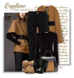 Camel and black - always chic by breathing-style on Polyvore featuring polyvore, fashion, style, Oasis, Zara, Steve Madden, Nina Ricci, City Chic and clothing
