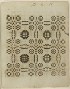 Philadelphia Museum of Art - Collections Object : Weaving Pattern Manuscript Weaving Designs, Weaving Projects, Weaving Patterns, Quilt Patterns, Welsh Blanket, Textiles Sketchbook, Cross Stitch Cushion, Black And White Quilts, Sampler Quilts