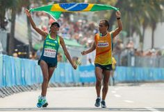 Victory Hug: Marcel clinches marathon gold in Rio sun 18.09.2016 Swiss 'Silver Bullet' in sprint finish to claim first Paralympic title but Tatyana McFadden narrowly misses out on fifth gold of Games Women's T12 Marathon at Fort Copacabana