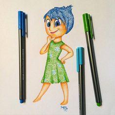 Best of Disney Art by Kristina N. Arte Disney, Disney Art, Amazing Drawings, Easy Drawings, Doodle Drawings, Doodle Art, Disney Drawings, Cartoon Drawings, Mandala Disney