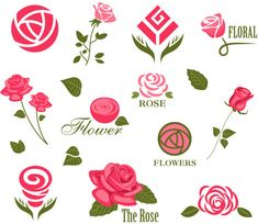 Ideas For Flowers Vector Abstract Coperate Design, Rose Design, Graphic Design Art, Logo Floral, Flower Logo, Flower Art, Peony Flower, Business Icons, Icon Set