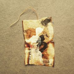 ruby silvious art — 363 days of tea. Collages, Tea Stained Paper, Paper Art, Paper Crafts, Tea Bag Art, T Art, Creative Journal, Tea Stains, My Cup Of Tea
