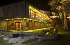Arrebol Hotel, Patagonia, Chile - The Arrebol hotel is built with the best view of the Puerto Varas city and Llanquihue lake. The public volume of the hotel contains the meeting room, restaurant and bar; and the private volume has two floors with the entrance hall and guest rooms.