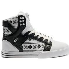on sale 5d881 d8e04 Supra White   Green Iridescent Fg Skytop High Tops for Men Shoes Patrón  Blanco Y Negro