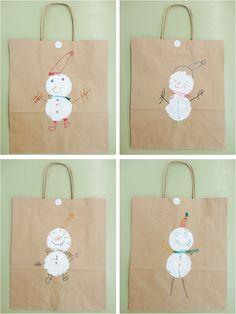 Bosses decorades amb ninot de neu. QUÉ HACEMOS HOY EN EL COLE?: navidad