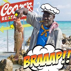 Fisherman in Jamaica!! (Stamp by Cook, photo by Rod Leon)