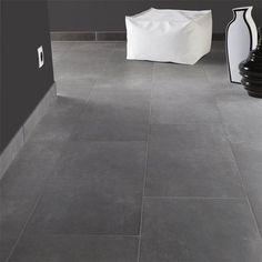 Klinker Hill Ceramic Variano Mörkgrå 30x60 - Klinker #hall - Klinker Downstairs Bathroom, Bathroom Inspo, Soho, Tile Projects, Grey Tiles, Tile Floor, New Homes, Flooring, Interior