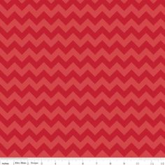 Small Tone on Tone Chevron Red