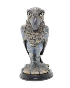 Martin Brothers a Large Stoneware Tobacco Jar and Cover in the Form of a Grotesque Bird, 1898.