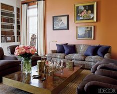 Aerin Lauder Hampton Living Space.  I absoutely LOVE the leopard sofa!!!! (from Elle Decor 2009)