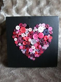 Button art Button canvas by Theresa Varnes