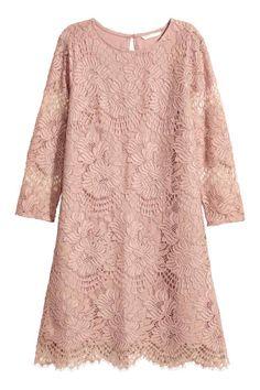 H&M Short Lace Dress - Vintage pink - Women Vintage Style Dresses, Trendy Dresses, Nice Dresses, Short Dresses, Dress Vintage, Vintage Pink, Dresses Dresses, Kebaya Modern Dress, Kebaya Dress
