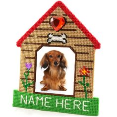 Plastic canvas kit. Dog kennel for photo.