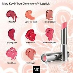 Mary Kay True Dimensions Lipstick http://www.marykay.com/lisabarber68  Call or text 386-303-2400
