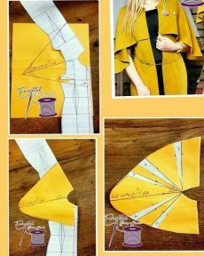 Cape duster - Best Sewing Tips Dress Sewing Patterns, Sewing Patterns Free, Clothing Patterns, Pattern Draping, Bodice Pattern, Sleeve Pattern, Sewing Sleeves, Sleeves Designs For Dresses, Fashion Sewing