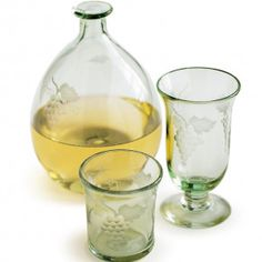 Grapevine Etched Wine Decanter & Tumbler Collection