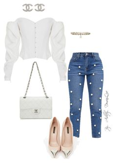 """""""By AD"""" by ashleydomenique on Polyvore featuring ElenaReva, Louis Vuitton and Chanel"""