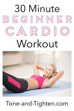 30 Minute Cardio Workout on Tone-and-Tighten 30 Minute Cardio Workout, Cardio Barre, Cardio Workout At Home, Barre Workout, At Home Workouts, Cardio Workouts, Body Workouts, Tabata, Beginners Cardio