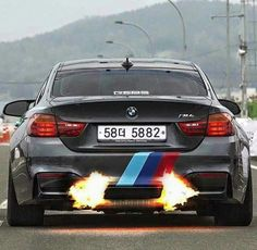 BMW F82 M4 grey flame