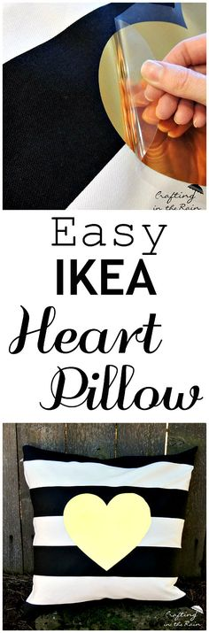 Gold Heart Pillow | Crafting in the Rain>>>  Perfect for Valentine's decor or every day!