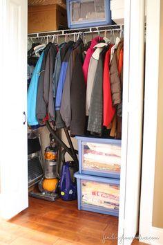 The Trick to Organizing The Hall Closet #AllAccessOrganizer #PMedia
