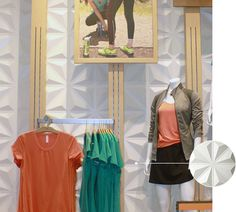 Lucy Activewear's National Locations Featuring: Eco-Dimensions Bamboo Wall Panels  - WPDIM006 Sedona Hardwoods -  - FLDRD023