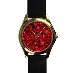 Popular Beautiful Roses Petals Unisex -tone Round Leather Metal Popular >>> Don't get left behind, see this great product : Travel Gadgets Travel Gadgets, Camping And Hiking, Father Christmas, Rose Petals, Beautiful Roses, Fashion Brands, Unisex, Popular, Watches