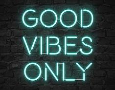 Neon Good Vibes - Teal Framed Art Print by Never Grow Up - Vector Black - Mint Green Aesthetic, Blue Aesthetic Pastel, Aesthetic Colors, Aesthetic Collage, Teal Wallpaper Iphone, Green Wallpaper, Color Verde Aqua, Teal Framed Art, Teal Art