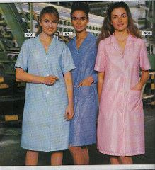 Nylon overall scan Pyjamas, Pjs, Nylons, Blouse Nylon, Work Overalls, Staff Uniforms, Slip, Shirt Dress, Lady