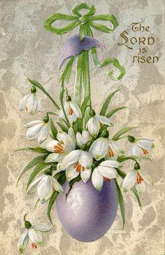 https://flic.kr/p/EcEmn | Vintage Easter Postcard | The Lord is Risen