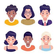 Art And Illustration, Illustration Design Graphique, People Illustration, Character Illustration, Character Flat Design, Vector Character, Simple Character, Character Sketches, Design Plat