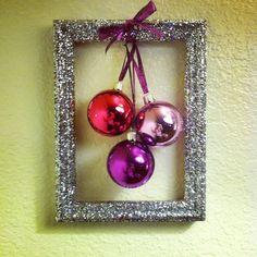 Christmas Glitter picture frame decor