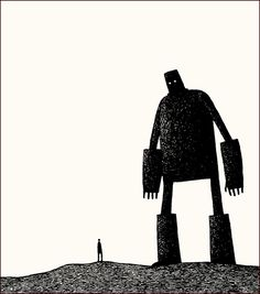 Ted Hughes - The Iron Man: A Children's Story in Five Nights / illustrations by Tom Gauld