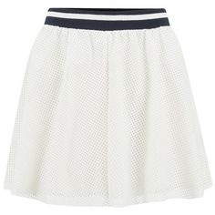 ONLY Women's Sofie PU Skirt - Cloud Dancer ($41) ❤ liked on Polyvore featuring skirts, mini skirts, bottoms, falda, white, white circle skirt, fitted mini skirt, white skirt, striped skirt and white skater skirt