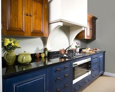 Chalon Blue Kitchen by ChalonHandmade, via Flickr