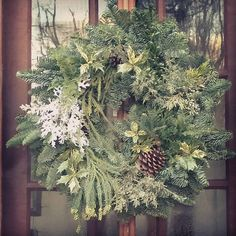 #wreath #christmas #freshcutgreens #holidays #winter  #thefrontporch