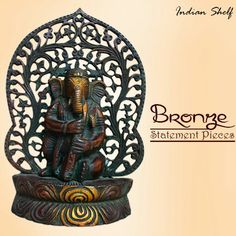 Bronze statement pieces #brass #ganesha to view and buy check our whole collection at https://www.indianshelf.com