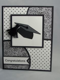 Stampin Up Handmade Greeting Card: Graduation Card, Class of 2015, Graduate Card, High School, College, Cap, Masculine. Boy Girl