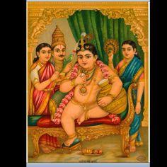 Yasoda Nanda Krishna by Raja Ravi Varma