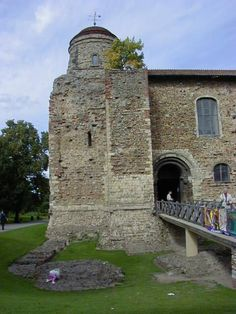 Colchester Castle, Essex.  Bank Holidays always ment a family day out somewhere.  Colechester and the castle were a favorite.